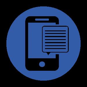 mobile/text icon